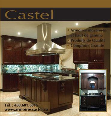 Armoires de cuisine castel inc 3001 boul le corbusier for Article de cuisine laval