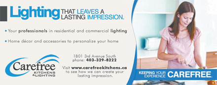 Carefree Kitchens & Lighting (403-332-6400) - Annonce illustrée