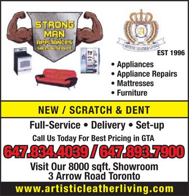 Strongman's Sales & Services (647-834-4039) - Display Ad