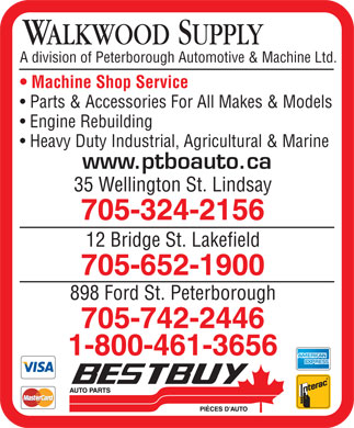 Walkwood Supply (705-324-2156) - Display Ad