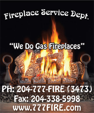 Fireplace Service Department (204-777-3473) - Display Ad