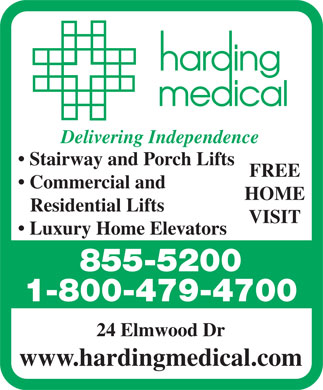 Harding Medical (506-855-5200) - Display Ad