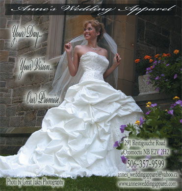 Anne's Wedding Apparel (506-357-9599) - Display Ad