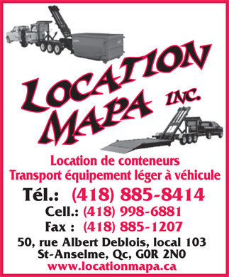 Location MAPA (418-800-7714) - Display Ad