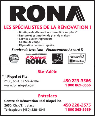 Rona - Annonce illustr&eacute;e