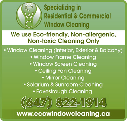 Eco Window Cleaning (647-822-1914) - Display Ad