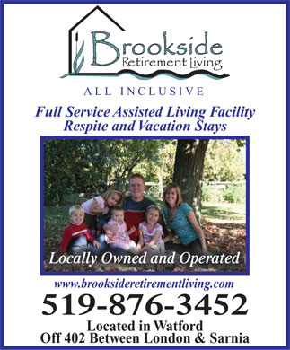 Brookside Retirement Living (519-876-3452) - Annonce illustrée