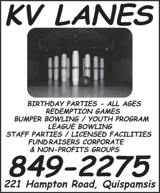 Kennebecasis Valley Bowling Lanes (506-849-2275) - Display Ad