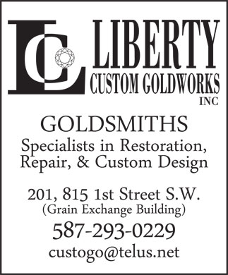 Liberty Custom Goldworks Inc (403-264-2429) - Annonce illustrée - LIBERTY CUSTOM GOLDWORKS INC LIBERTY CUSTOM GOLDWORKS INC