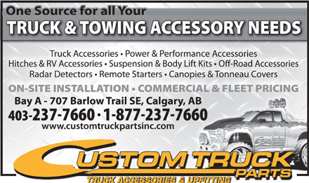 Custom Truck Parts (403-817-9934) - Annonce illustr&eacute;e - TRUCK ACCESSORIES &amp; UPFITTING