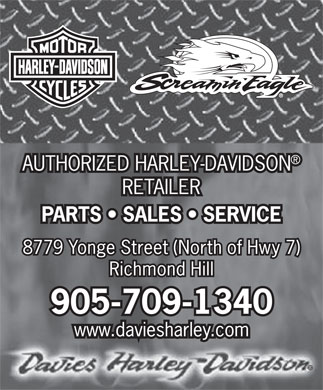 Davies Harley-Davidson (905-709-1340) - Display Ad
