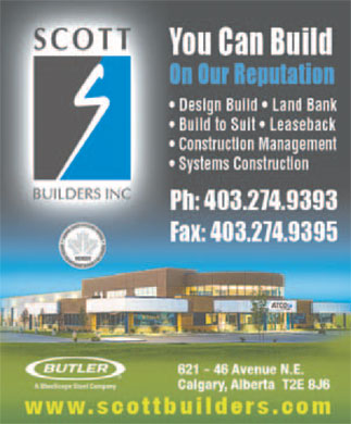 Scott Builders Inc (403-274-9393) - Display Ad