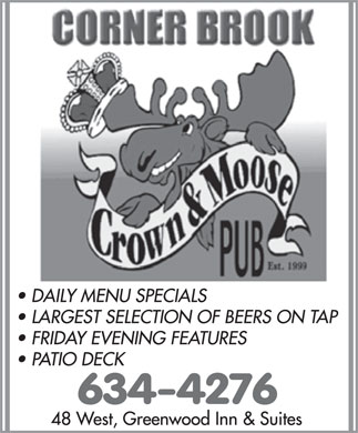 Crown & Moose (709-634-4276) - Display Ad