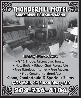 Thunderhill Motel (204-734-4104) - Display Ad
