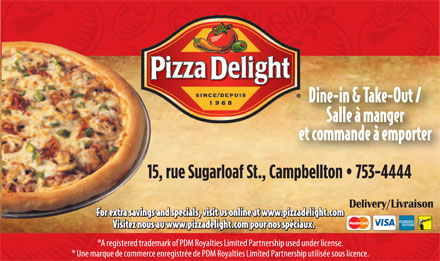 Pizza Delight Campbellton (506-753-4444) - Annonce illustrée