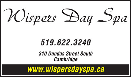 Wispers Hair and Day Spa (519-622-3240) - Annonce illustrée
