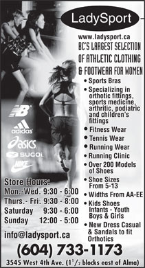 LadySport (604-733-1173) - Display Ad