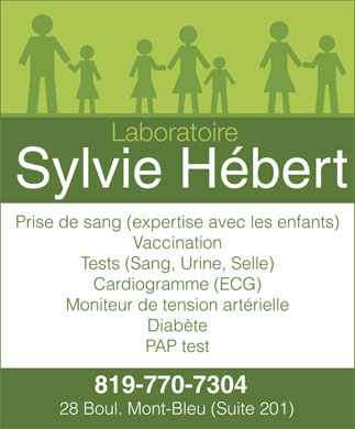 Laboratoire Sylvie H&eacute;bert (819-770-7304) - Display Ad