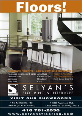 Selyan's Flooring Inc (416-781-2030) - Display Ad