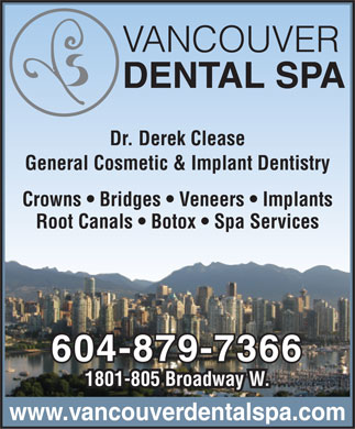 Vancouver Dental Spa (604-879-7366) - Display Ad