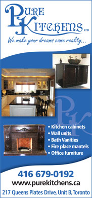 Pure Kitchens (416-679-0192) - Display Ad
