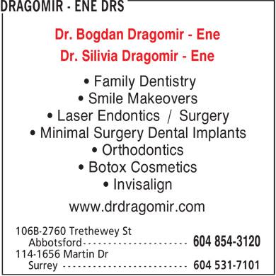 Dr. Bogdan Dragomir (604-854-3120) - Display Ad -