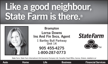 State Farm Insurance (905-455-4275) - Display Ad