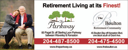 The Parkway Retirement Community (204-487-8500) - Display Ad