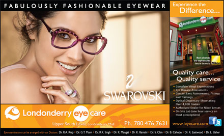 Londonderry Eye Care (780-392-0323) - Annonce illustrée