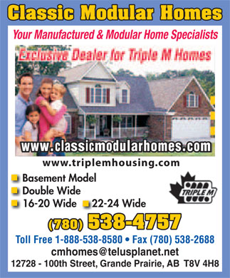 Classic Modular Homes (780-538-4757) - Display Ad