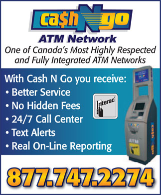 Cash N Go (1-877-747-2274) - Annonce illustr&eacute;e