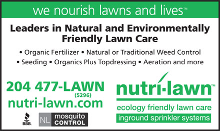 Nutri-Lawn (204-477-5296) - Annonce illustr&eacute;e