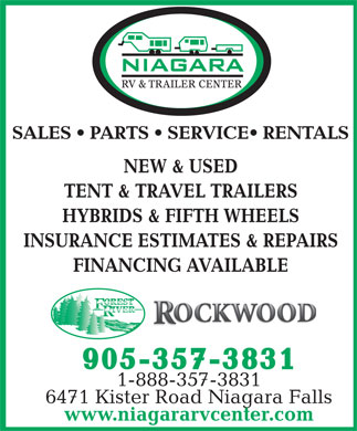 Niagara RV & Trailer Center (905-357-3831) - Display Ad