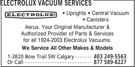 Aerus Electrolux (403-249-5563) - Display Ad