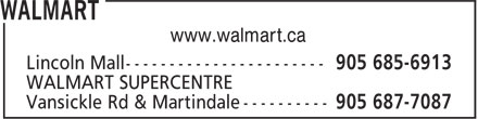 Walmart (905-685-6913) - Display Ad - www.walmart.ca