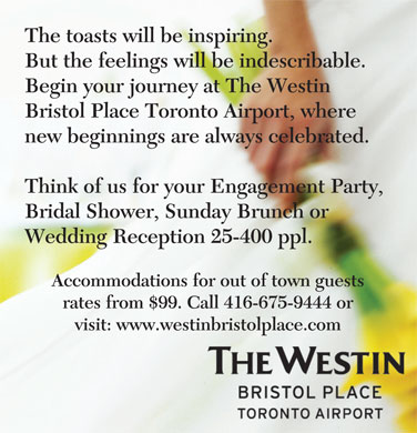 Westin Bristol Place Toronto Airport (416-675-9444) - Annonce illustr&eacute;e