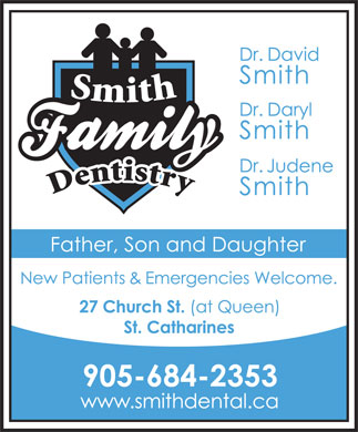 Smith Family Dentistry (905-684-2353) - Display Ad