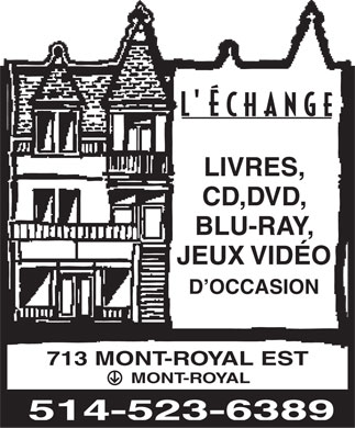 L'Echange (514-523-6389) - Display Ad
