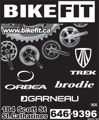 Bikefit Inc (905-646-9396) - Display Ad