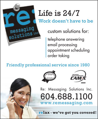 Re: Messaging Solutions Inc (604-688-1100) - Annonce illustrée