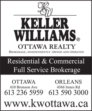 Keller Williams Realty Ottawa Realty (613-236-5959) - Display Ad