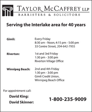 David C King (204-988-0420) - Display Ad - 204-642-7955