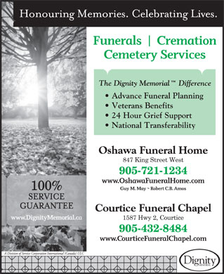 Oshawa Funeral Home (905-721-1234) - Display Ad