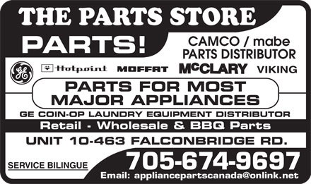The Parts Store (705-674-9697) - Display Ad