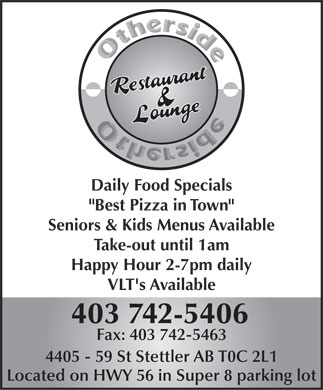 Other Side Family Restaurant &amp; Lounge (403-742-5406) - Annonce illustr&eacute;e