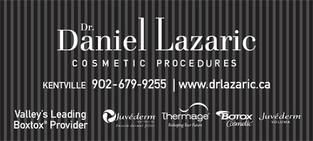 Botox Cosmetic - Dr Daniel Lazaric (902-679-9255) - Display Ad