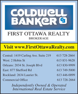 Coldwell Banker First Ottawa Realty (613-728-2664) - Display Ad