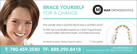 Mar Orthodontics (780-458-4169) - Display Ad