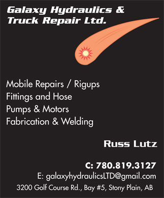 Galaxy Hydraulics Ltd (780-968-0070) - Display Ad