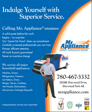 Mr Appliance (780-467-3332) - Annonce illustr&eacute;e